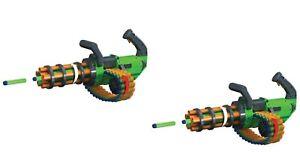 2Packs-Gatling Machine Gun Motorized Automatic Rapid-Fire Belt Dart Blaster Kids