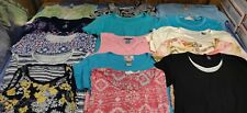 WOMENS LOT OF 15 TOPS Size Medium Pre Owned