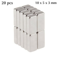 20 Pcs 10x5x3mm Neodymium Block Magnet 10x5x3mm Super Strong Magnets - Craft N42