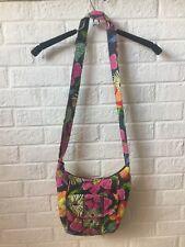 Vera Bradley floral pink gray Hipster Crossbody Bag purse