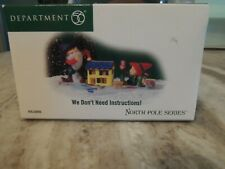 Department 56 North Pole Series We Don't Need Instructions! New