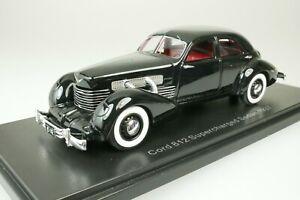 Cord 812 Supercharged sedan 1937 - Black 1/43 Neo 45742 New