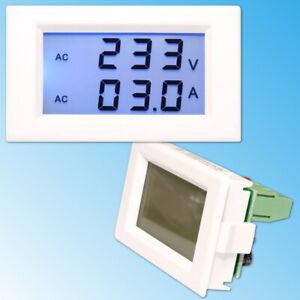 80-300V Voltmètre 0-50A AC Ampèremètre LCD Afficher Numérique Tension Mètre