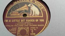 KATHLYN HILLIARD & GEORGE BAKER I'M A LITTLE BIT FONDER OF YOU HMV C1228