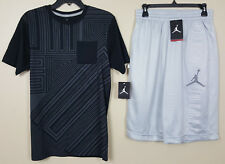 NIKE AIR JORDAN XI RETRO 11 SHIRT + SHORTS BLACK COOL GREY RARE NEW (SIZE SMALL)