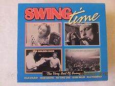 SWING TIME 4 CD SET B.HOLIDAY F.SINATRA NAT KING COLE GLENN MILLER E. FITZGERALD