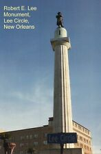 Confederate Statue of Robert E. Lee at Lee Circle New Orleans Louisiana Postcard