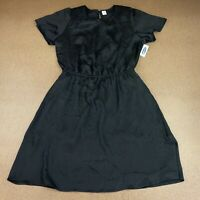 Old Navy Women's Size Small Black Lined Flutter Sleeve Elastic Waist Dress NWT