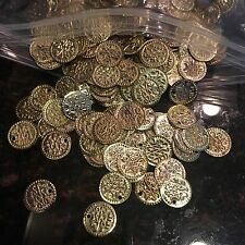 50 Egyptian Metal Coins Beads Belly Dance Gypsy Sewing Art Craft Egypt