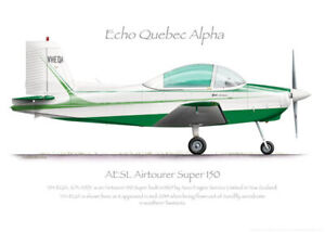 AESL Airtourer 150 VH-EQA 2014 - A3+ Profile Print