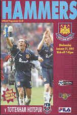 2000/01 WEST HAM UNITED V TOTTENHAM HOTSPUR 31-01-01 Premier League (Very Good)