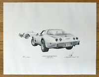 CORVETTE SILVER ANNIVERSARY 1978 Corvette Silver Anniversary Signed Leonard Kik