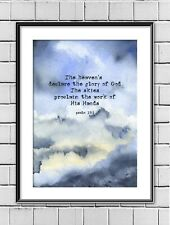 Skyscape Bible, Scripture, Heavens Religious Art Print or your own Bible Verse