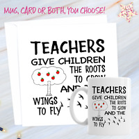Teacher Leaving Gift Set School Leaver 11oz Ceramic Mug And Card