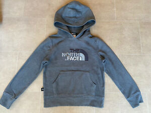Boys The North Face Grey Hoodie Fleece Size Small