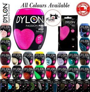 Dylon Washing Machine Dye Fabric & Clothes Pod 350g Powder 22 Colours