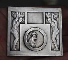 12- ANCIENNE MEDAILLE BRONZE ART DECO FRAISSE COQ REVEIL DU NORD