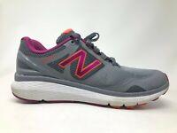 New Balance Womens 1865 WW1865GY Grey Silver Fuchsia Athletic Running Shoes Sz 9