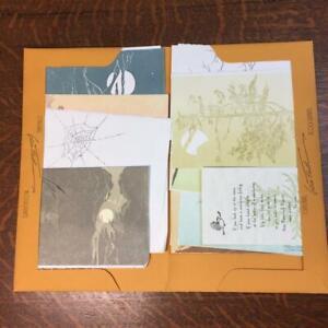 GWEN FROSTIC Lot 12 Blank Cards Envelopes Michigan Artist Nature Block Printing