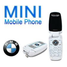 NEW Unlocked BMW Mini Flip Car Key Fob GSM Bluetooth White Cell Phone