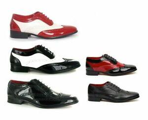 Rossellini Men's spectator Two Tone Brogue gangster Shoes (BORSALINO)