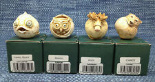 New Listing4 Lot Harmony Kingdom Roly Polys Marble Resin Figurines w/ Boxes Mint