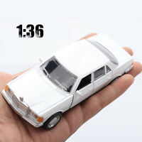 1:36 Mercedes Benz E-class W123 Classical Car Model Simulation 2 Open Doors Toys