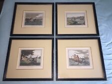 Set of 4 c.1830s English Fishing Framed Prints - Thomas McLean London Antique