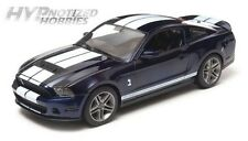 GREENLIGHT 1:18 2011 FORD SHELBY GT500 WITH WHITE STRIPES  DIE-CAST BLUE 12824