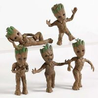 5 pcs Set Guardians of The Galaxy Baby Tree Man Groot Figure Car Decorative Toys