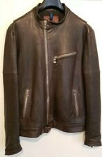Brand New Benheart Cafe Racer Brown Lambskin Leather Jacket Size M/L US40 EU50