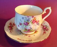 Royal Albert Tea Cup And Saucer - Tiny Pink Roses And Blue Forget Me Nots