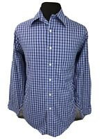 Brooks Brothers Mens Button Down Shirt Non Iron Plaid Blue Sz Large