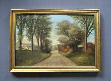 Milton H. Lowell (1848-1927) Large Antique Impressionist Oil Landscape Painting