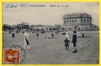 cpa FRANCE Ecrite en 1917 FORT MAHON PLAGE (Somme) HÔTEL de la MER Tennis