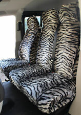 Toyota Proace (13-16) GREY TIGER Faux FUR VAN Seat COVERS - Single + Double
