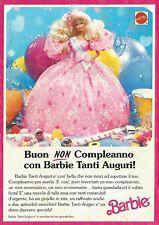 X7201 Buon Non Compleanno con Barbie Tanti Auguri - Pubblicità 1991 - Advertis.