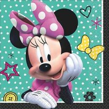 MINNIE MOUSE Happy Helpers SMALL NAPKINS (16) ~ Birthday Party Supplies Beverage