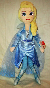 Ty Sparkle Disney Frozen II 16 Inch Plush Elsa Doll NEW WITH TAGS!!