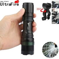 20000LM Light Zoomable T6 LED Cycling Lamp 18650/AAA Flashlight 360°Mount Clip
