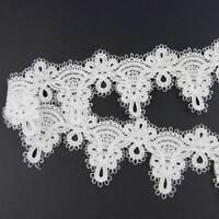 3 Yd environ 2.74 m Polyester Crochet Bord Bordure En Dentelle Ruban Applique À faire soi-même Sewing Craft Nouveau