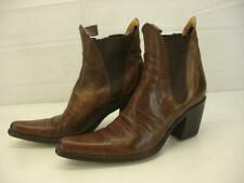 Women's 8 8.5 sz 38.5 Free Lance Paris France Brown Leather Western Ankle Boots