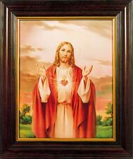 More details for sacred heart framed picture room blessing sacred heart christian picture