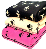 SET OF 2 JUMBO PET BLANKETS FLEECE LARGE SIZE SOFT DOG PUPPY CAT KITTEN