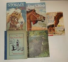 FIVE CHILDRENS BOOKS 2 HC'S/3 PB'S Fiction Books Horses Animals Pets - K