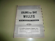 1942 Willys DuPont Pyralux Color Chip Paint Sample - Vintage
