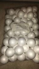 "(2) BAGS OF 72 STYROFOAM BALLS 2"" SCHOOL XMAS ARTS & CRAFTS SMOOTH POLYSTYRENE"