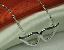 HEAVENLY BEAUTIFUL ANGEL WINGS STERLING SILVER 925 NECKLACE WITH CHAIN~BLNC~TU