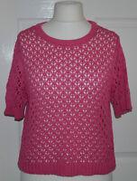 ❤❤ Atmosphere pink cropped short sleeve jumper / top plus size uk 18 ❤❤