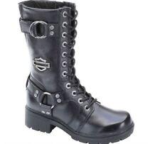Harley-Davidson Women's Eda 9-Inch Boots. Inside Zipper. Lace Front. D83736
